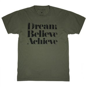Image of DREAM BELIEVE ACHIEVE Tee - Olive