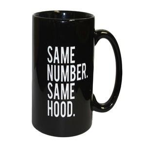 Image of Same Number. Same Hood Mug (black)