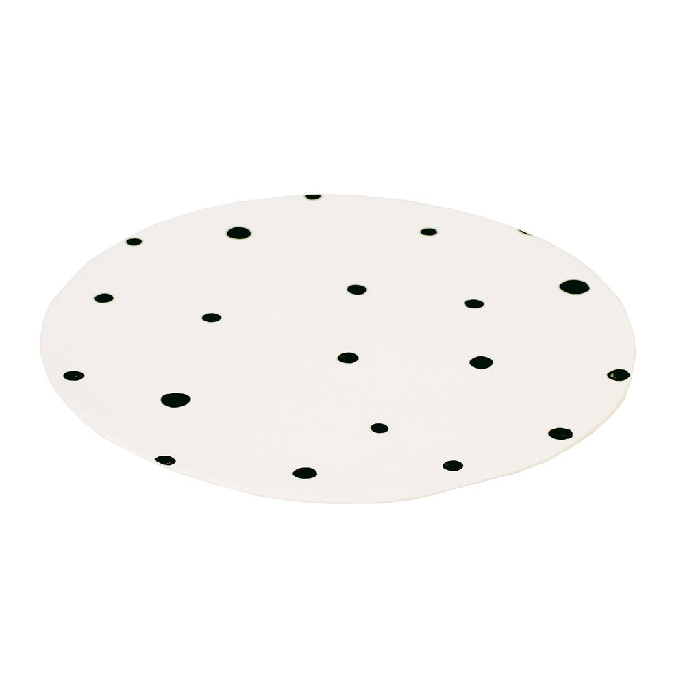 Image of BLACK POLKA DOT PLATE
