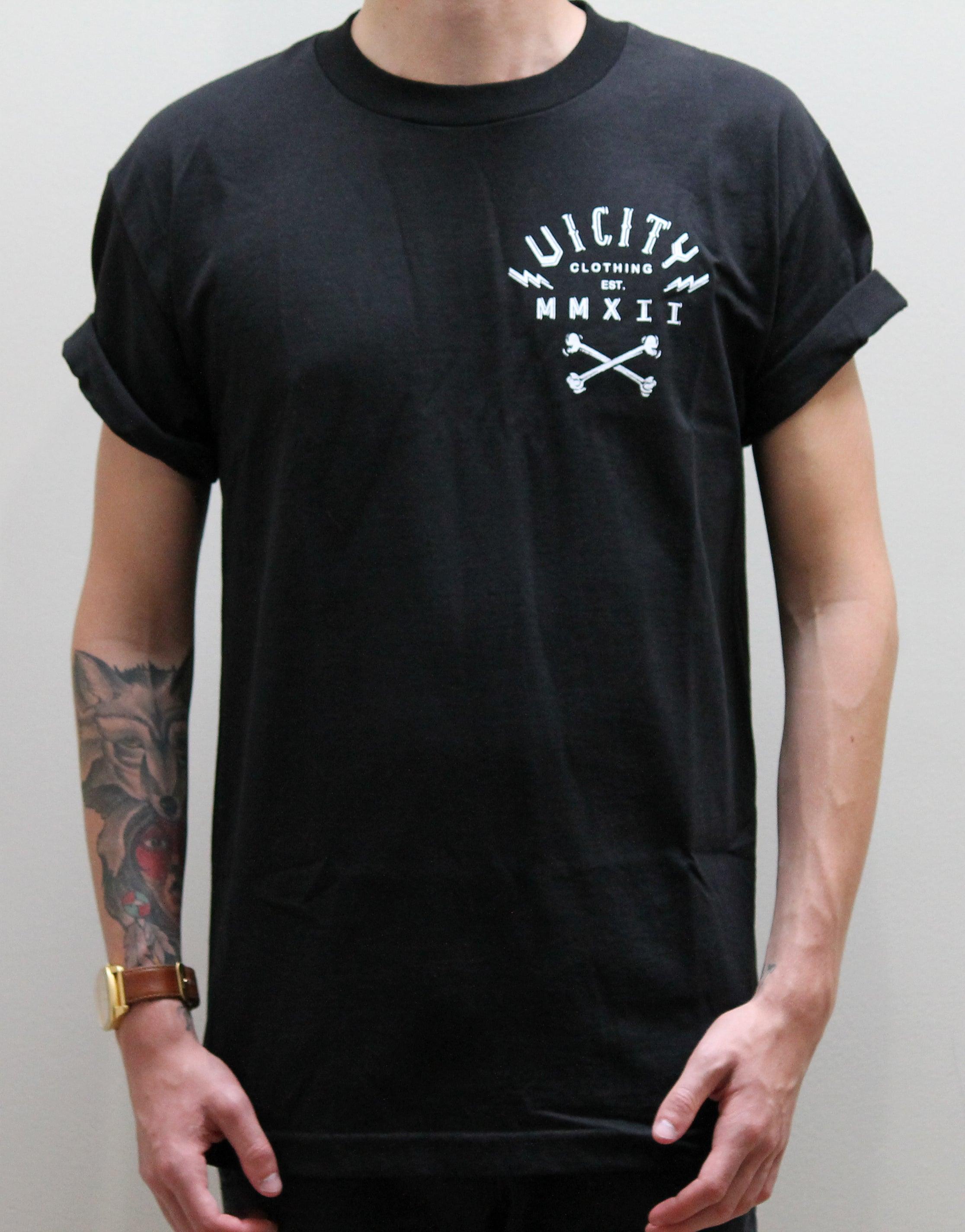 New Dead Bones T Shirt Vicity Clothing
