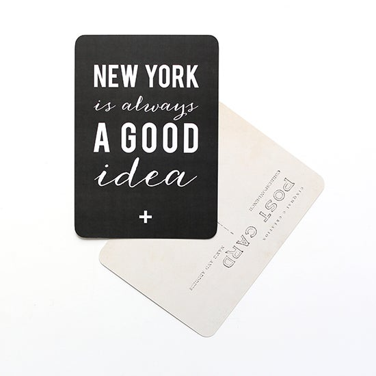 "Image of Carte Postale ""NEW YORK is always A GOOD idea"" ARDOISE"