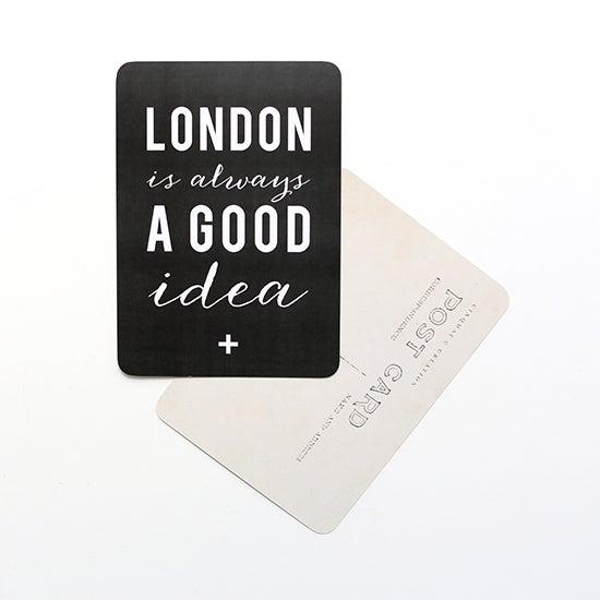 "Image of Carte Postale ""LONDON is always A GOOD idea"" ARDOISE"