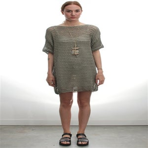Image of LATTICE DRESS
