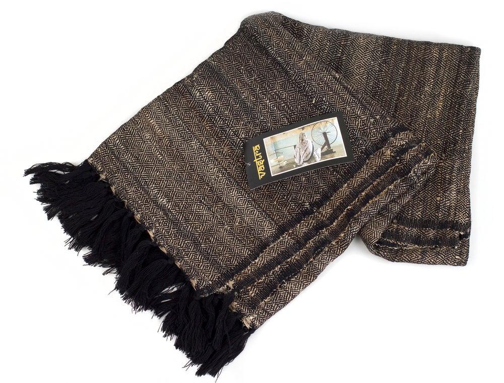 Image of Vastra fine woven scarf / Black / Kolkata