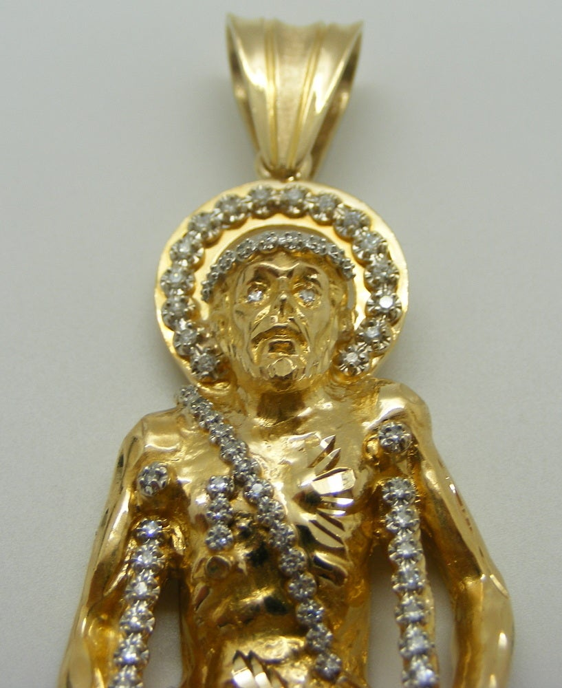 Image of Saint Lazarus Diamond Pendant