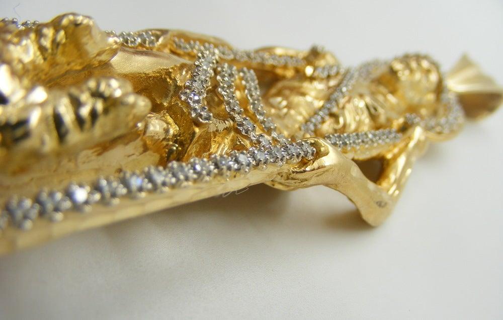 Image of Saint Lazarus Diamond Pendant