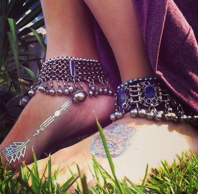 Image of Tribal Warrior ankle cuffs