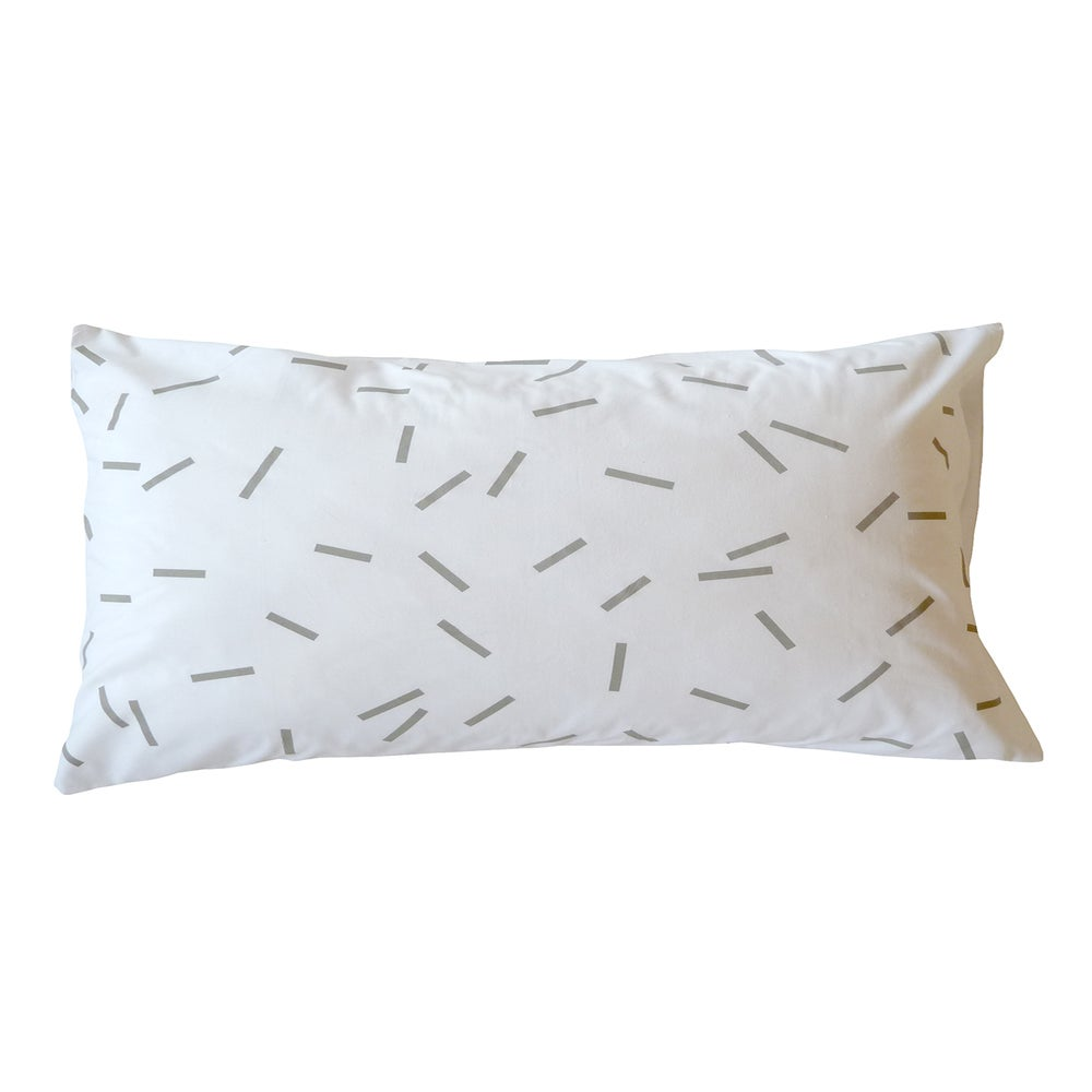 Image of GREY SPRINKLES PILLOWCASE