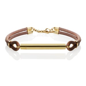 Image of An.no Bracelet for Men w leather and Gold