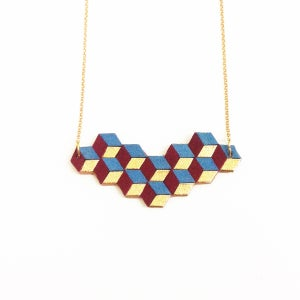 Image of Cubes necklace - with gold bits