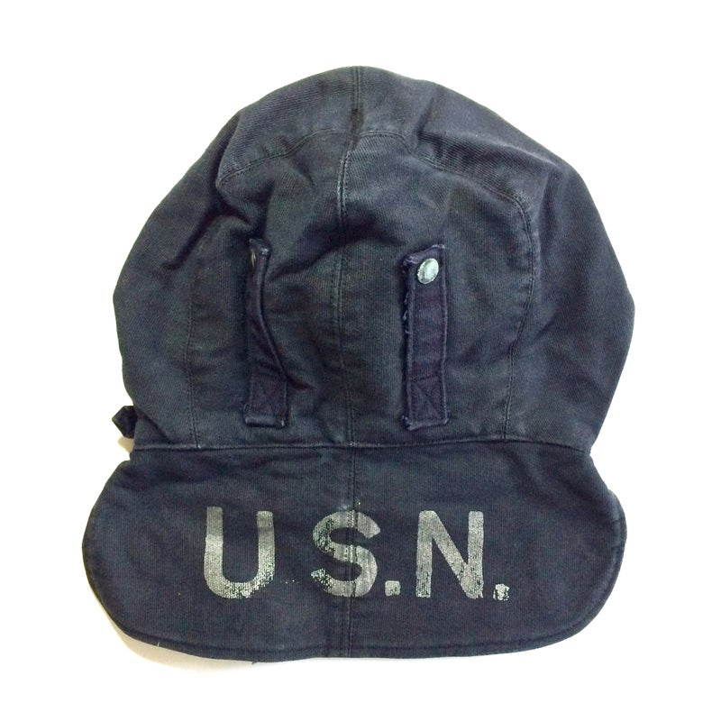 Image of WWII U.S.N. FOUL WEATHER DECK CAP