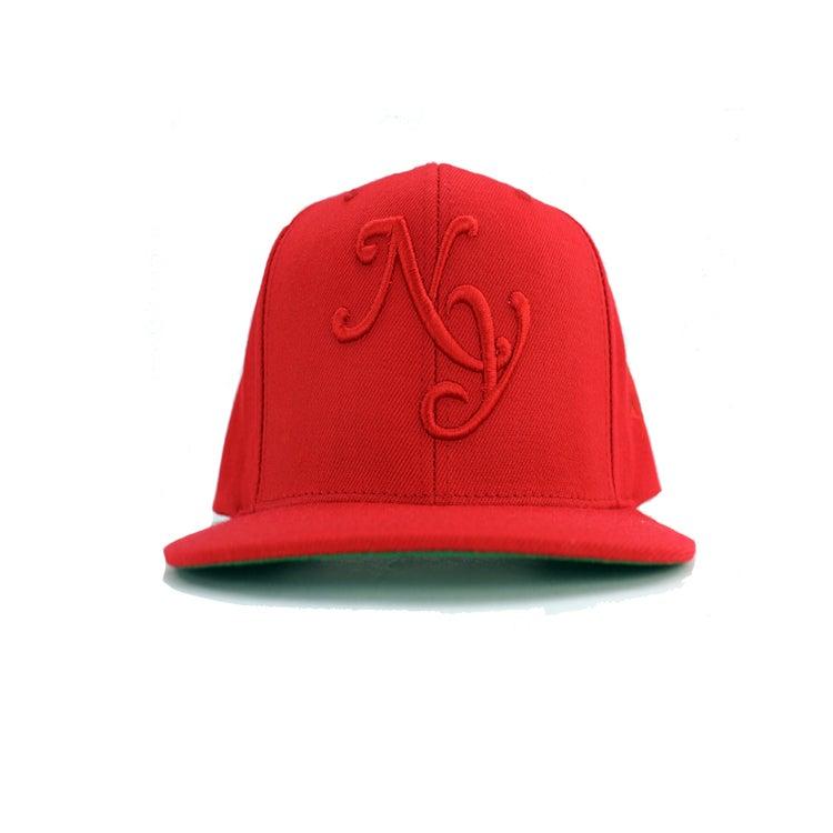 """Image of Red """"NY"""" SnapBack"""