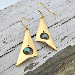 Image of Toma - Geometric Tribal Earrings