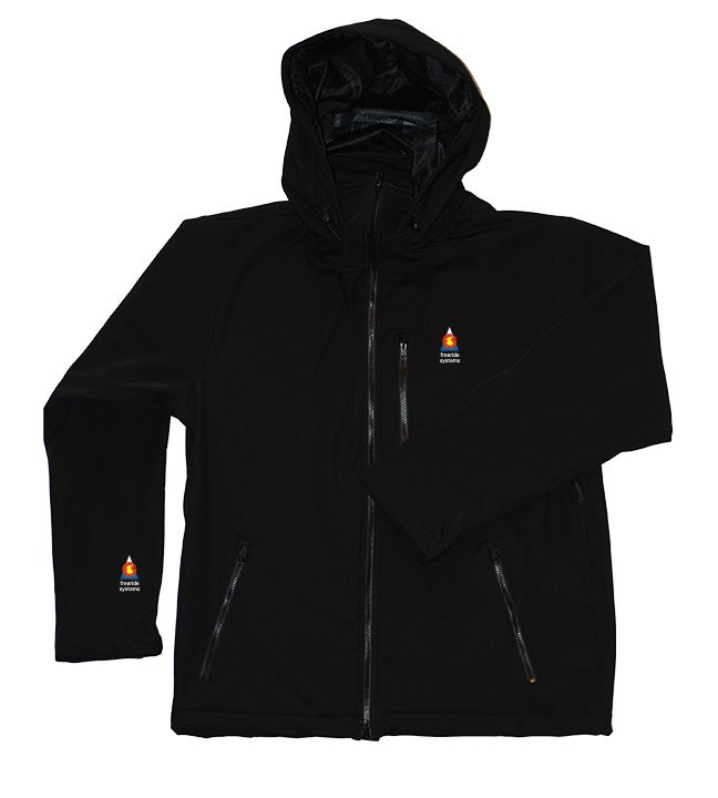 Image of Antero II Jacket Black Polartec Hybrid Made in Colorado