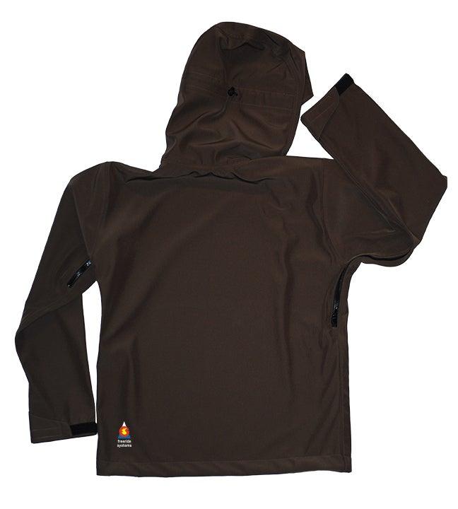 Image of Antero II Jacket Walnut Brown Hybrid Softshell Polartec Made in Colorado