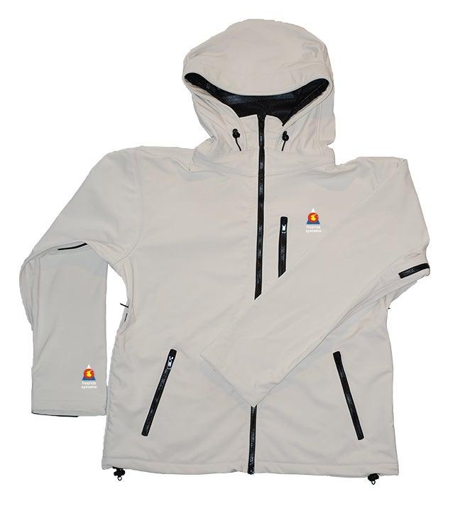 Image of Antero II Jacket Yeti White Gore Hybrid Weatherstopper Made in Colorado