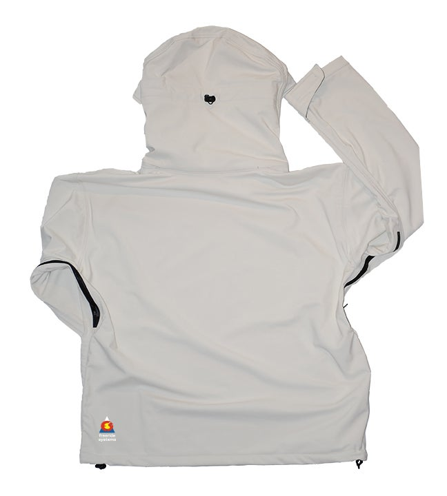 Image of Antero II Jacket Yeti White Hybrid Softshell Made in Colorado