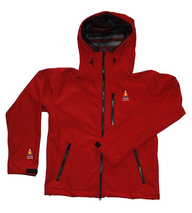 Image of Antero II Jacket Brick Red Hybrid Polartec Made in Colorado