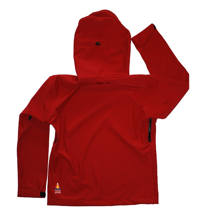 Image of Antero II Jacket Brick Red Hybrid Softshell Polartec Made in Colorado