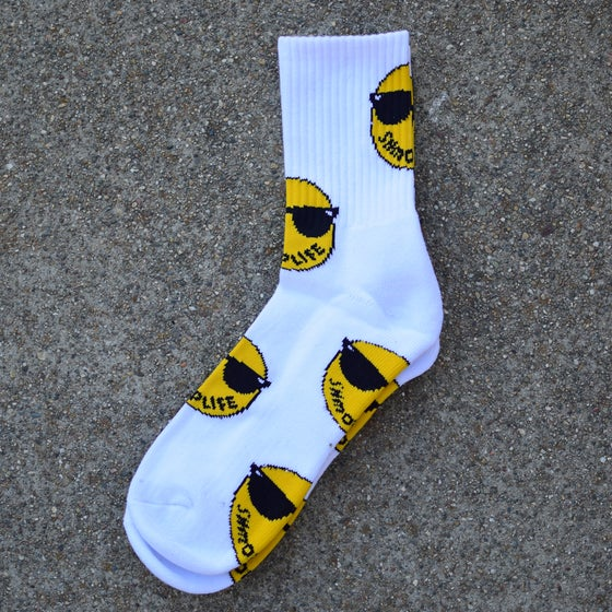 Image of SHMOPLIFE SOCKS (WHITE)