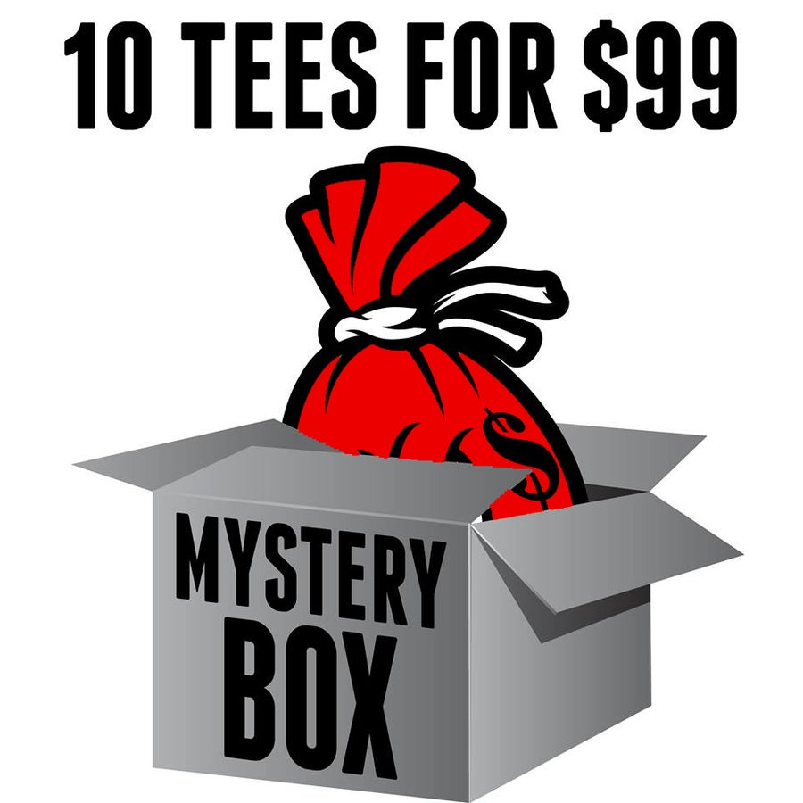Image of MYSTERY BOX of 10 T-SHIRTS