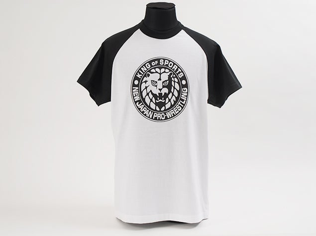 Image of Black 'King Of Sports' Classic Lion Mark Baseball Sleeve T-Shirt