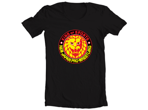 Image of NJPW Lion Mark Logo Black T-Shirt
