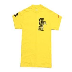 Image of Same Number. Same Hood. (Yellow)