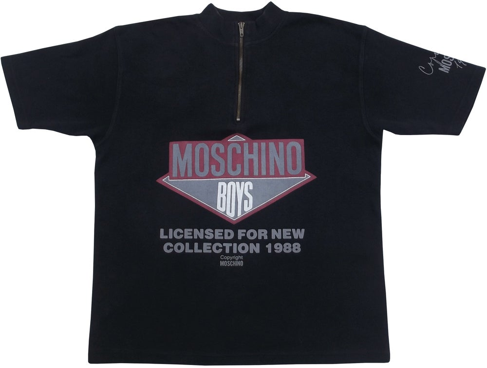 Image of Vintage Moschino 1988 Beastie Boys Polo Shirt Size Small