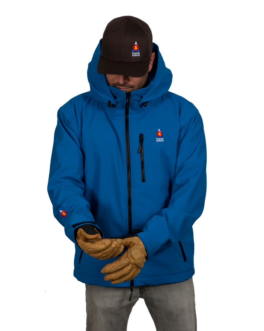 Image of Antero II Jacket Air Force Blue Hybrid Softshell Polartec Made in Colorado