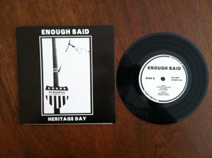 "Image of Enough Said ""Heritage Day"" 7"" BLACK"