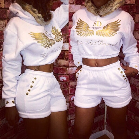 Image of 💎 S&D Icy White Wing Edition Sweatsuit💎