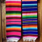 Image of Mexican Serape blanket