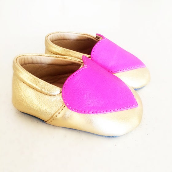 Image of Gold Heart loafers