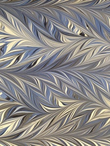 Image of Pattern #56 intricate comb blue