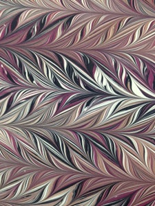 Image of Pattern #63 Intricate combed - maroon, black and Latte