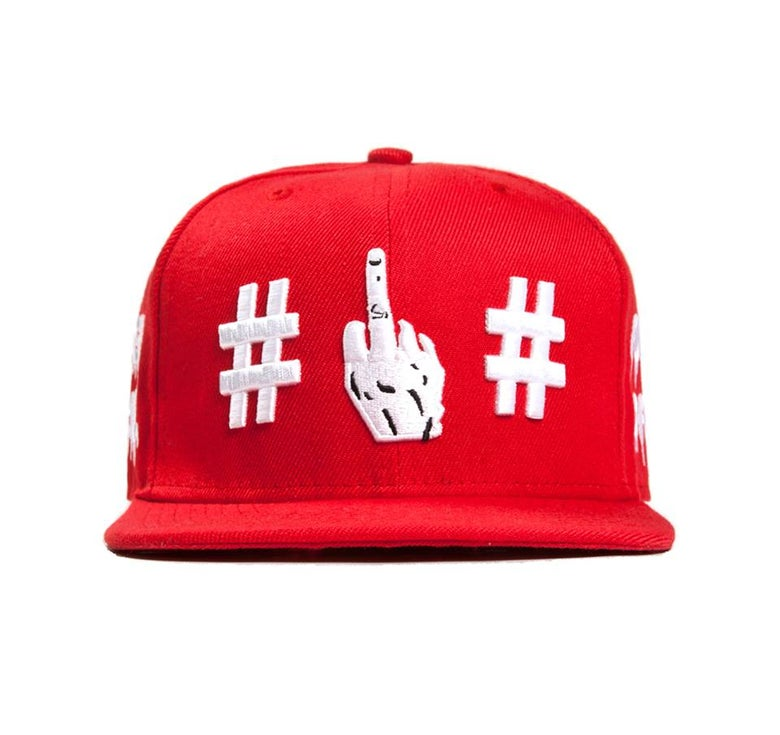 Image of Been Trill - Fuck off Snapback (Red) *JUICE (CLOT) EDITION*