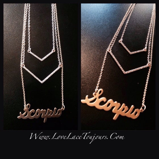 Image of Arrow Down Necklace
