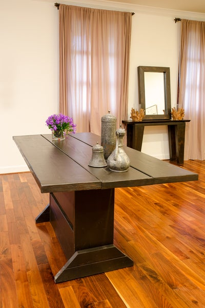 Image of 4 foot folding table / hinged table / drop leaf table