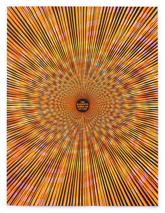 Image of The Black Keys Black Light Poster - Columbus