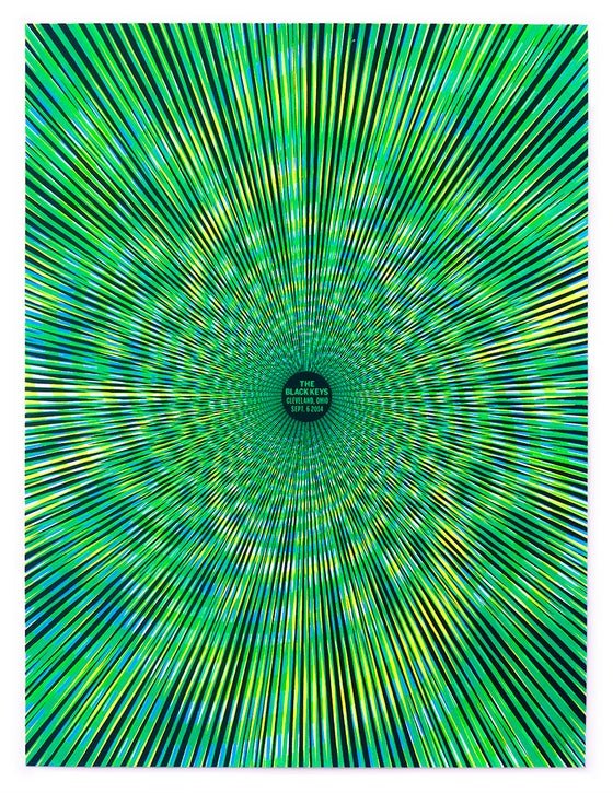 Image of The Black Keys Black Light Poster - Cleveland