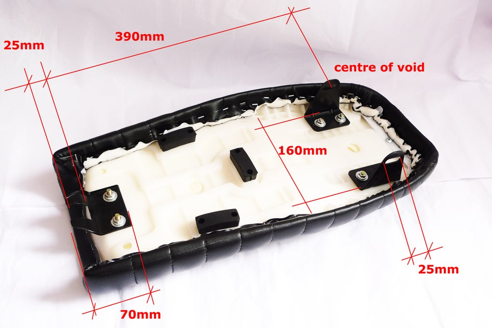 Image of Honda CG125 Flat Seat - 2 Tone Flat Seat