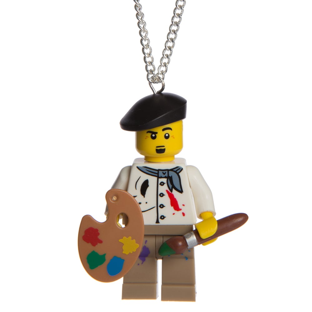 Image of Artist Lego Man Necklace