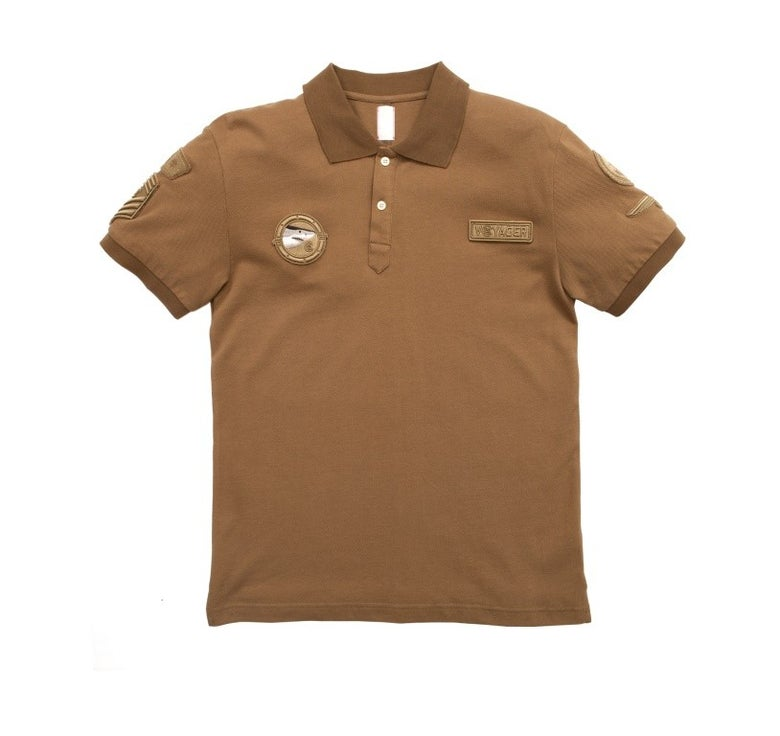 Image of CLOT - Crooked Patch Polo Tee (Brown)