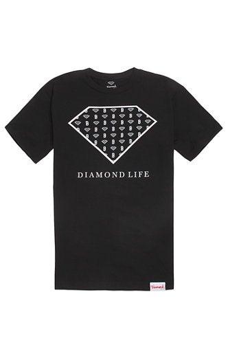 Image of Diamond Supply Co. x Black Scale - Diamond Life Script (Black)