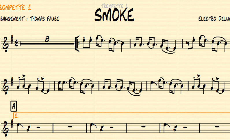 Image of SMOKE - Big Band version