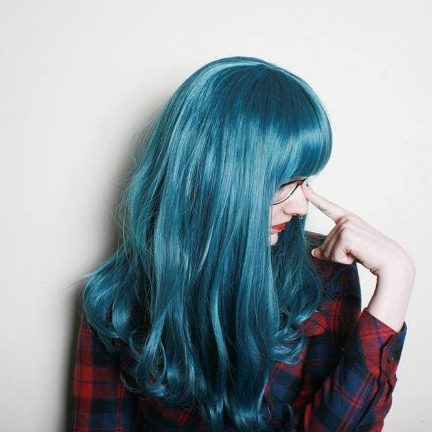 Image of Precious Metal, Dark Blue Mix Gothic Lolita Cosplay Wig