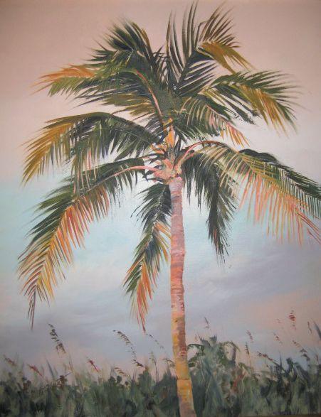 """Image of """"Palm Tree""""  original acrylic painting"""