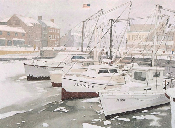 "Image of ""Misty Harbor"" print"