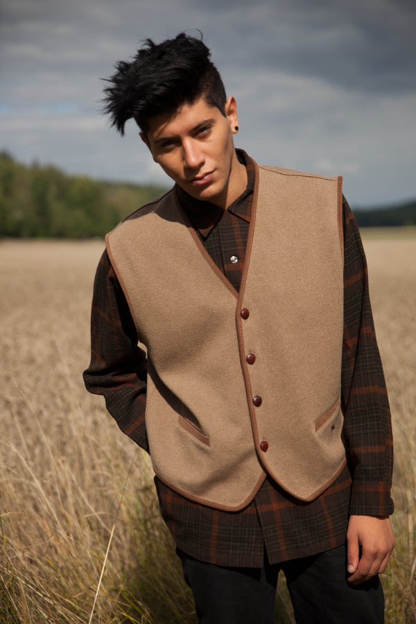 Image of Vintage Burberry Merino Wool Vest